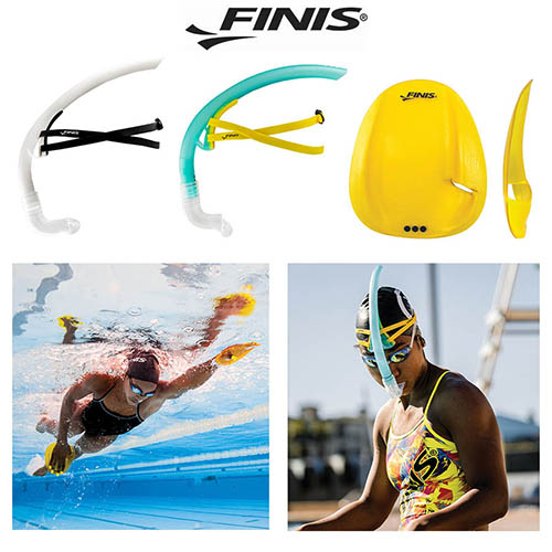 FINIS snorkel and paddles