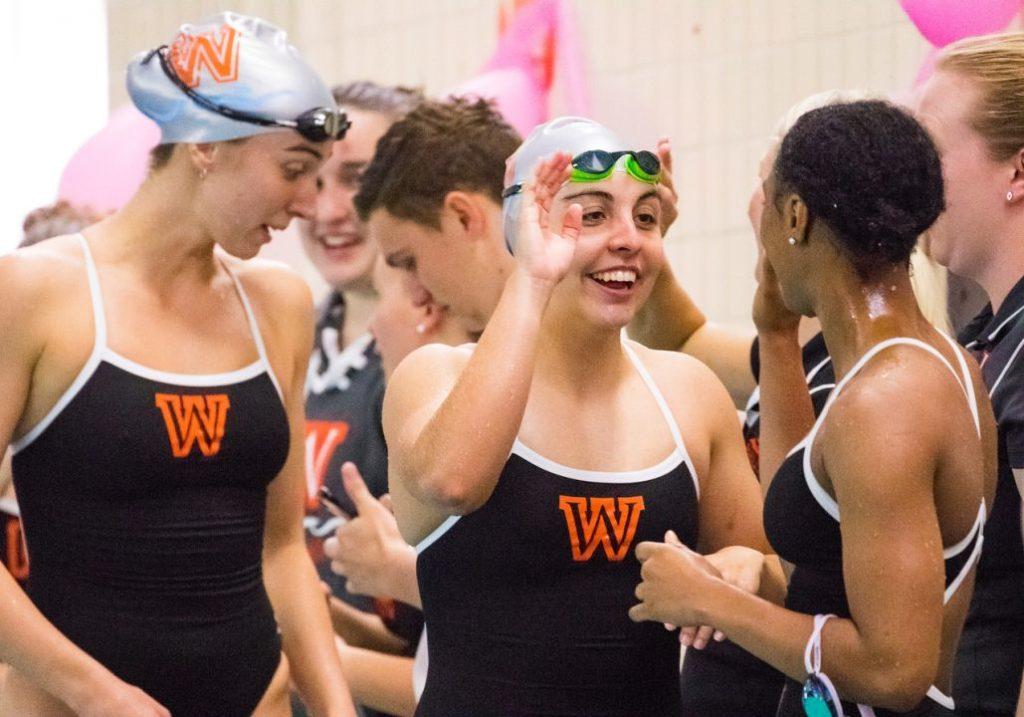 wesleyan-swimming-cheering