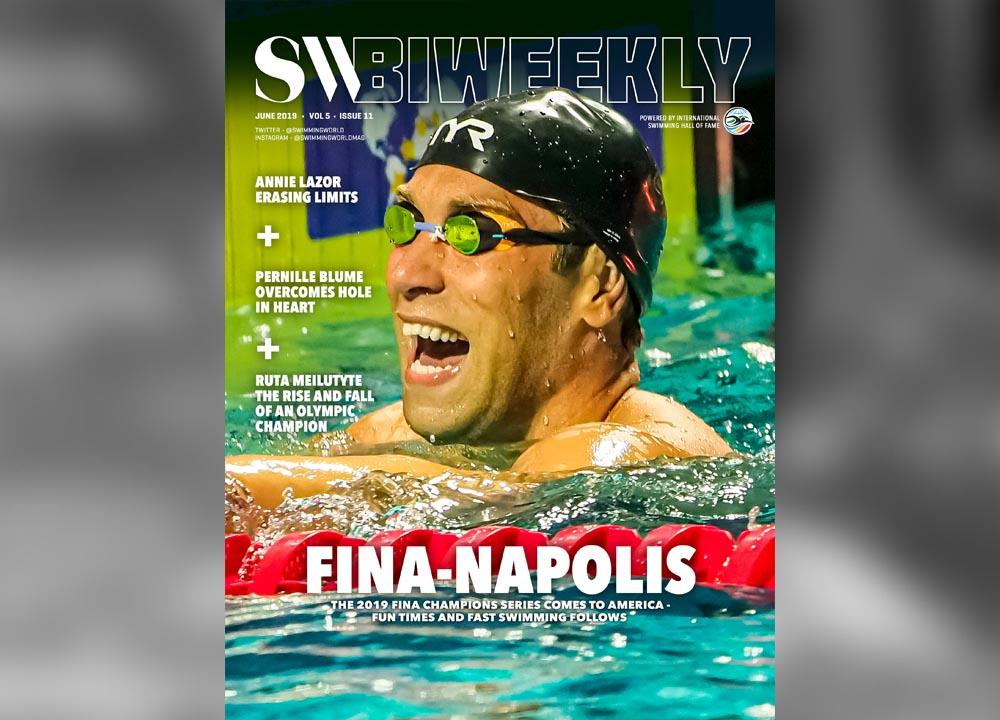 BWSlider06-07-19 Swimming World Biweekly FINA Champions Series