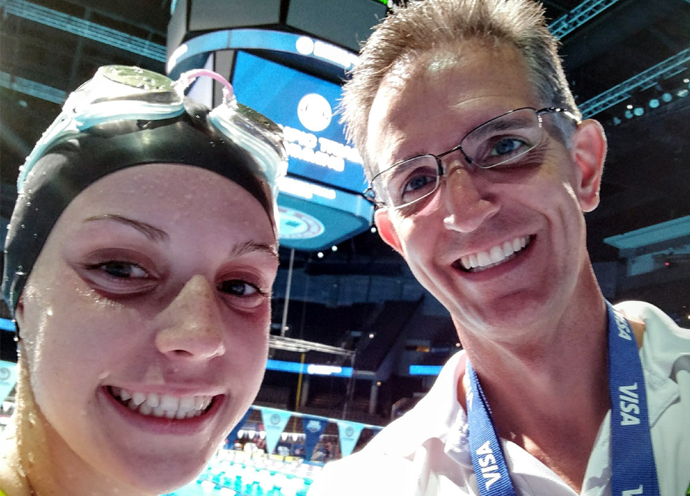 Swimming World July 2019 Dads on Deck with Regan Smith and Paul Smith