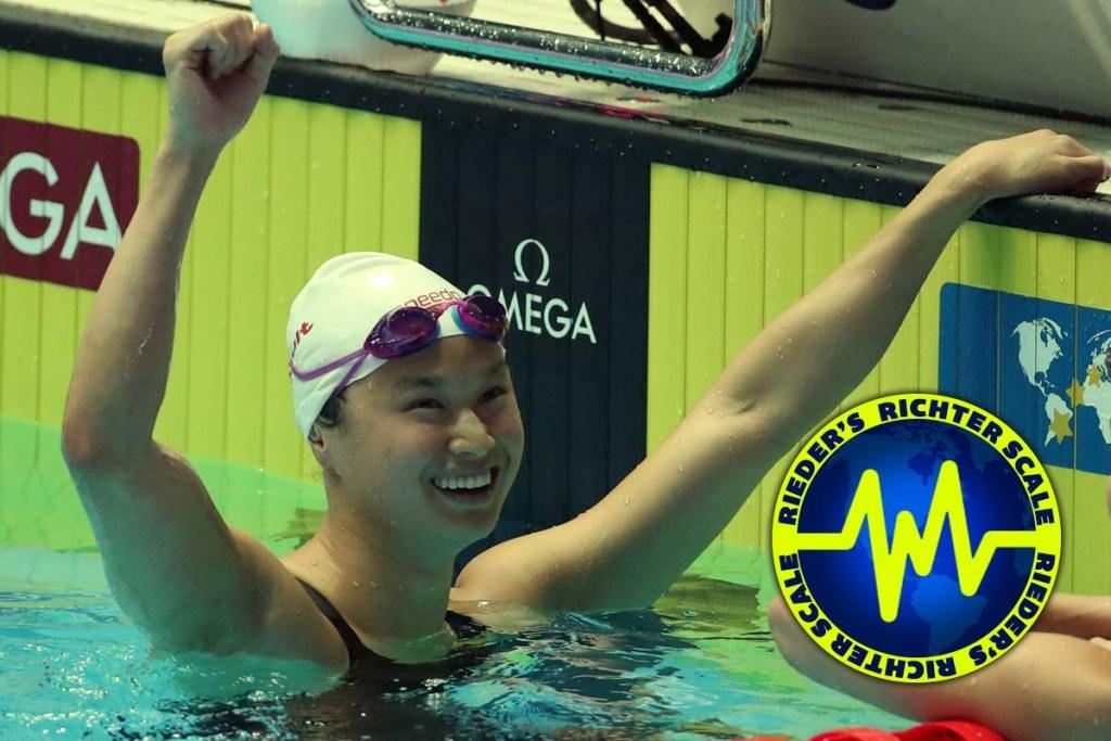 maggie macneil, 2019 fina world swimming championships, rieder's richter scale