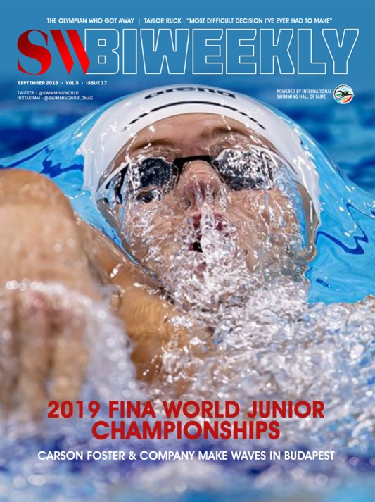 SW Biweekly 9-7-19 Cover SW Biweekly 2019 FINA World Junior Championships full finals recap