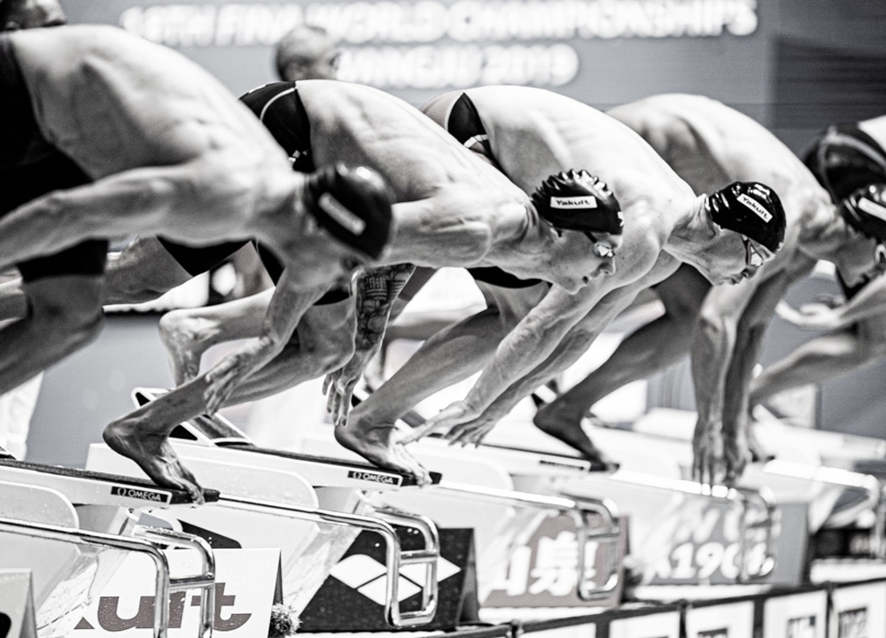 Swimming World October 2019 Faster Than Ever Mens 100 Free and 400 Free Relay