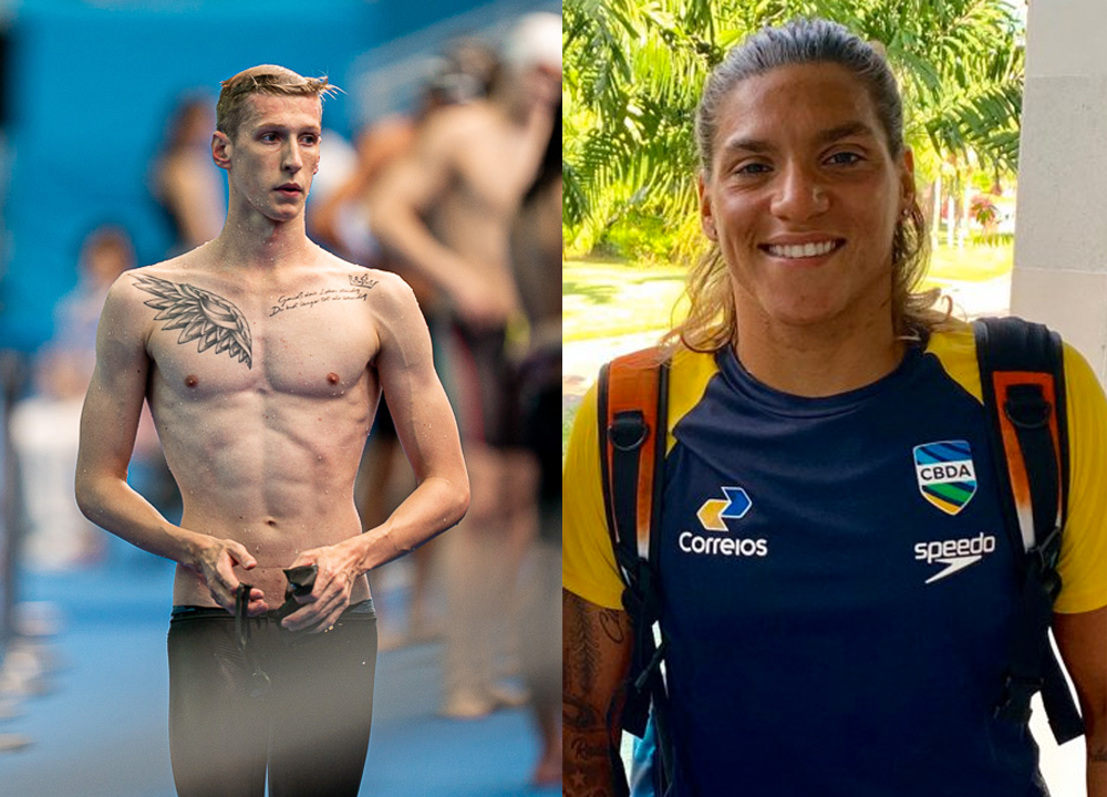 Swimming World November 2019 Open Water Swimmers of the Year Florian Wellbrock and Ana Marcela Cunha