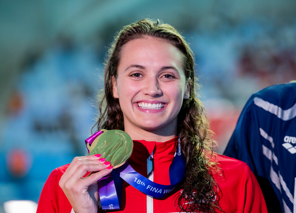 Swimming World December 2019 Swimmers of the Year - How They Train - University of Toronto Kylie Masse