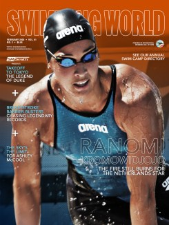 Swimming World February 2020 Cover - Ranomi Kromowidjojo