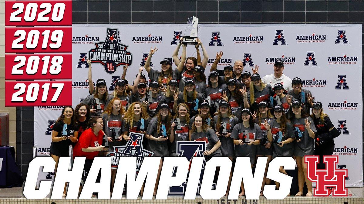 Houston Women, East Carolina Men Take AAC Swimming and Diving Championships Titles - Swimming World News