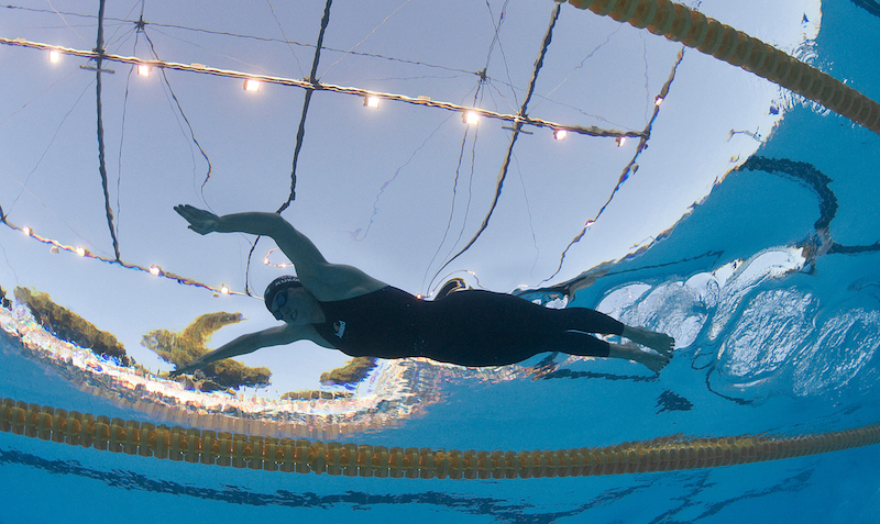 Winner and world record setter Ariana Kukors of the USA swims the butterfly leg in the women's 200m individual medely (IM) final at the 13th FINA World Championships at the Foro Italico complex in Rome, Italy, Monday, July 27, 2009. (Photo by Patrick B. Kraemer / MAGICPBK)