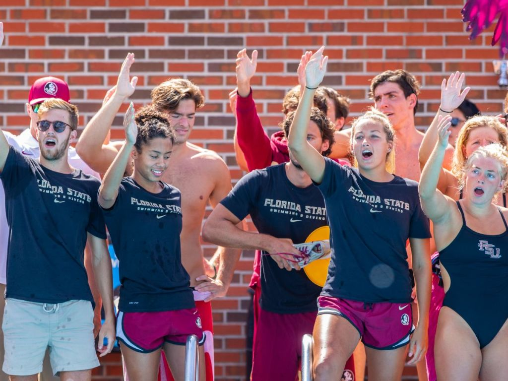 florida state fsu seminoles team cheer celebrate