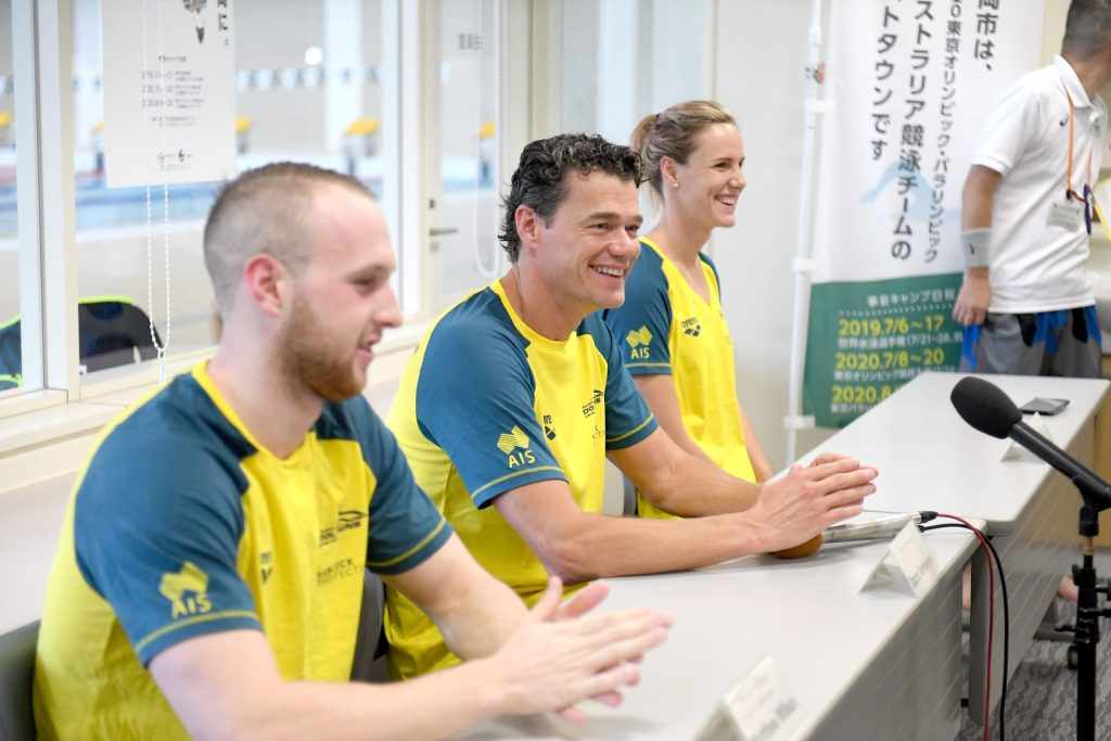 Jacco with Matt Wilson and Bronte Campbell