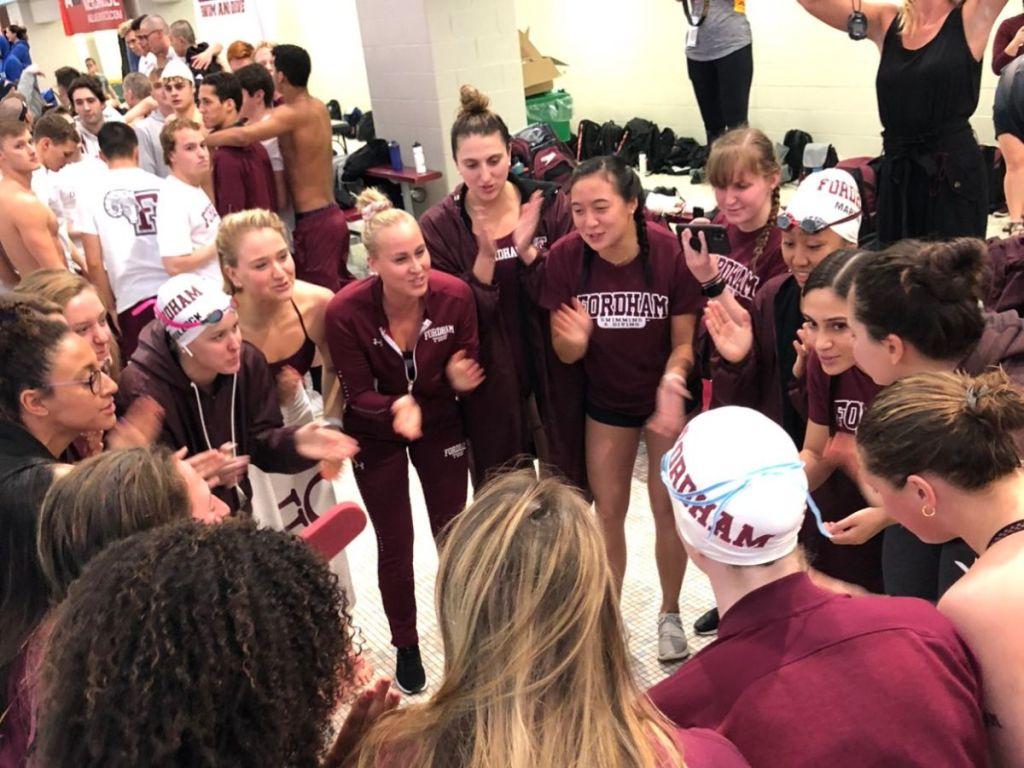 fordham team cheer
