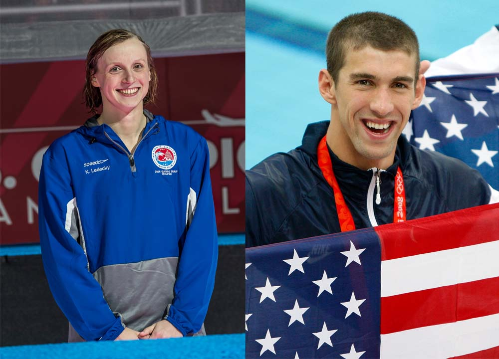 Swimming World December 2020 - Swimmers of the Millenium's First 20 Years - 2000-19 - Michael Phelps and Katie Ledecky