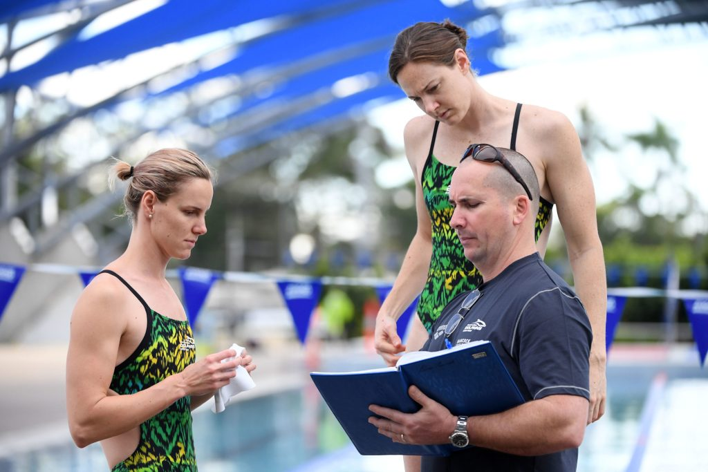 Simon Cusack with Cate and Bronte Campbell 2