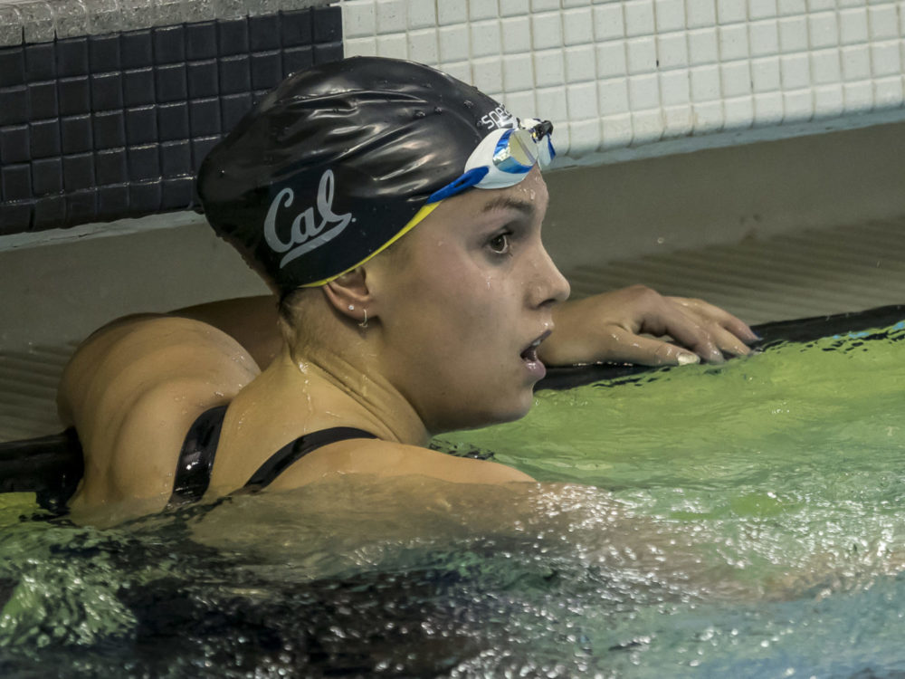 Cal Opens Pac 12 Conference Swim Champs With Win in 800 Free Relay