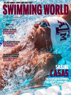 Swimming World March 2021 - Shane Casas - COVER