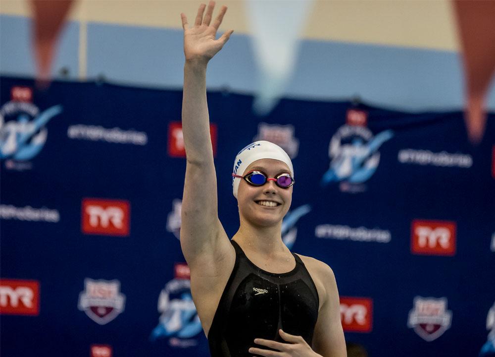 Swimming World June 2021 - Claire Curzan - No Limits