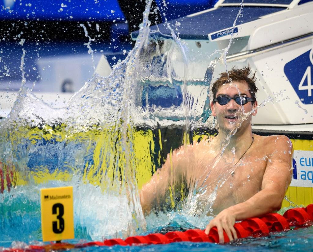 MEN - 50M BACKSTROKE - FINAL KOLESNIKOV Kliment RUS Russia Celebrate World Record Swimming Budapest - Hungary 18/5/2021 Duna Arena XXXV LEN European Aquatic Championships Photo Giorgio Scala / Deepbluemedia / Insidefoto
