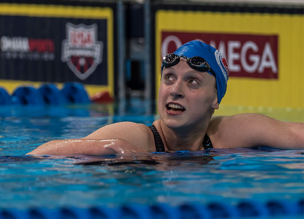 Swimming World June 2021 -Special Sets - Katie Ledecky - Run-Up To Rio 2016 - By Michael J. Stott