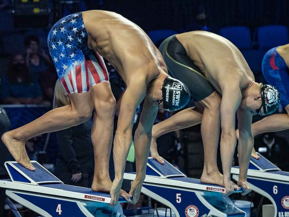 michael andrew, chase kalisz, olympic trials, tokyo olympics, start
