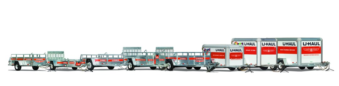 U-Haul Trailers 5'x8', 6'x12', 5'x9', Enclosed trailers
