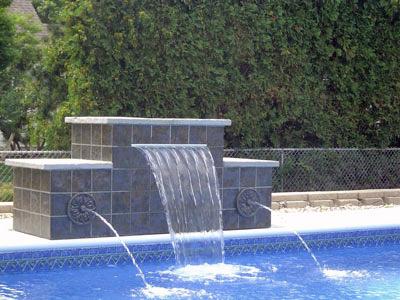 Swimming Pool Waterfalls Swimming Pool Water Features