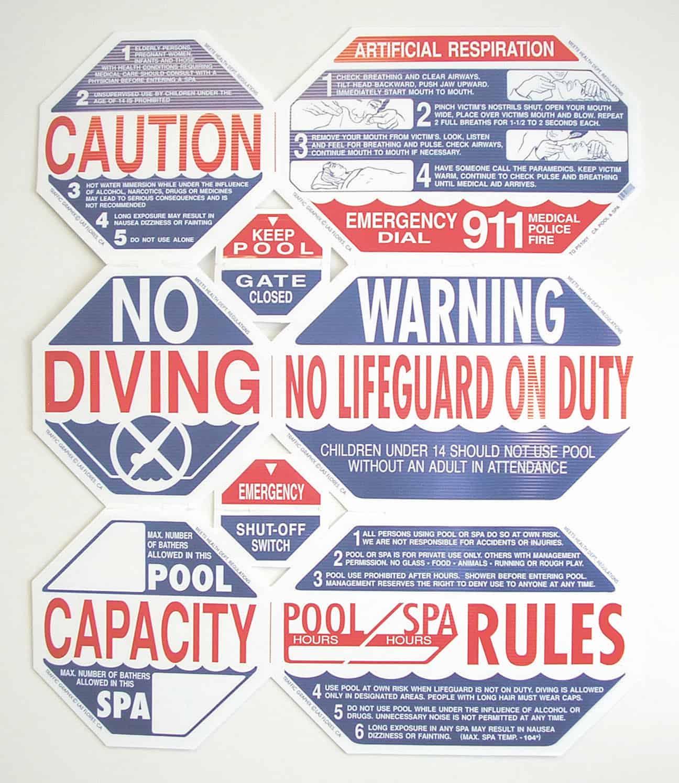 e2f252db52f Florida Pool   Spa Safety Sign Set – Swimtime