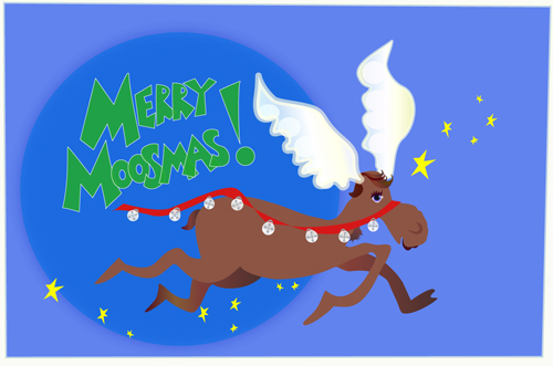Merry Moosmas & the Flying Moose
