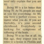 clipping of a column by Frank Charles Laubach on being 80 years old