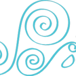 Daisy Swirl Icon in Blue