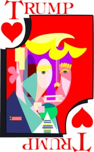 Trump of Hearts for Valentine's Day, a Modern Portrait of Donald J. Trump