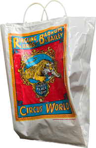 Circus souvenir bag from Circus World, the home of the Ringling Brothers and Barnum and Bailey Circus