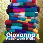 stack of hand-knit patchwork afghan throws