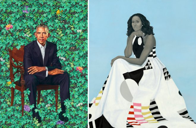 Presidential Portraits of the Obamas, Barack and Michelle