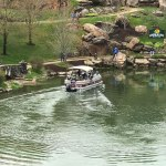 Ranger Boat ferries golfers to the greens at hole 6