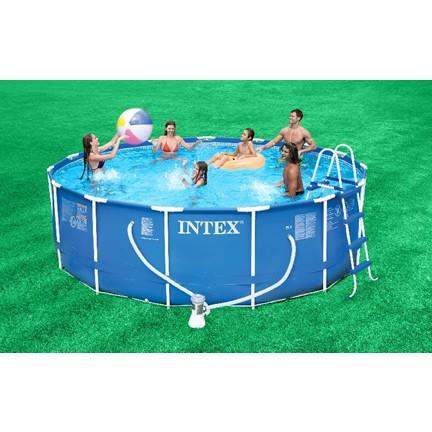 Intex 15ft x 48in Metal Frame Pool Package - Swindon Pool Hot Tub & Spa Chemicals And Accessories