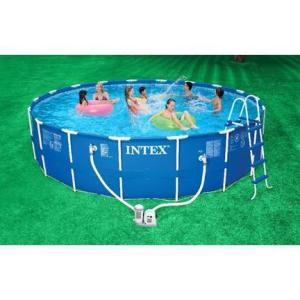 Intex 18ft x 48in Metal Frame Pool - Swindon Pool Hot Tub & Spa Chemicals And Accessories