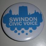 badge with swindon civic voice logo