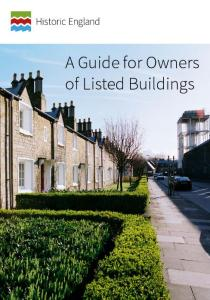 Guide for owners of listed buildings
