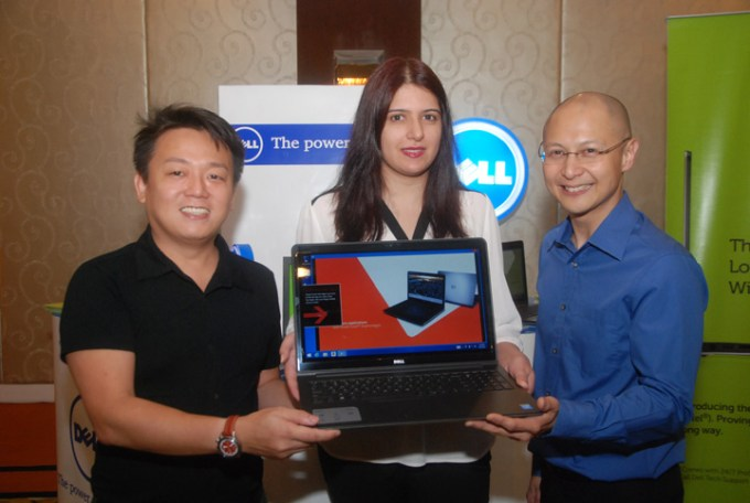 Charlz Adano, Marketing Mangr Dell Phil_ Nubla Iftikhar, Mrktng Operations Senior Advisor for Dell South Asia Devlpng Markets_ Wowie Wong, Intel Phil