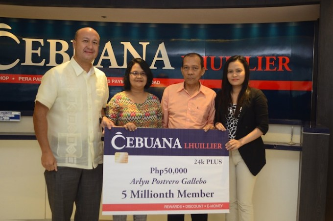Photo_Cebuana Lhuillier fetes 5-millionth loyalty card member