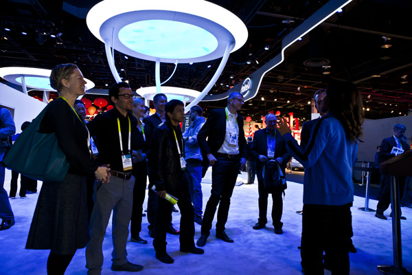 Intel Booth at CES 2015 in Las Vegas, Nevada