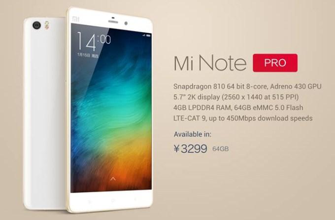Mi Note Pro, Mi Note Pro Specs, Mi Note Pro Price