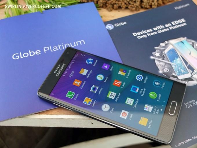 Globe Platinum, Gourmand Market, Samsung Galaxy S6 Edge