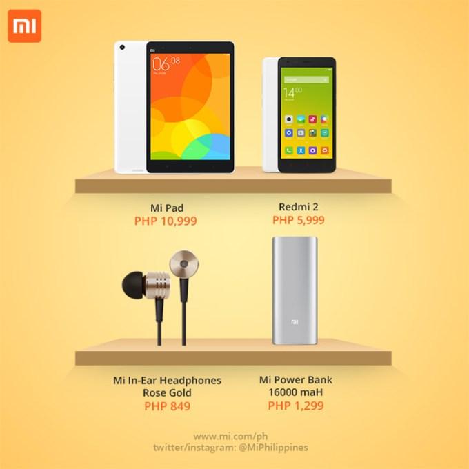 Xiaomi Mi Store, Redmi 2, Mi Pad