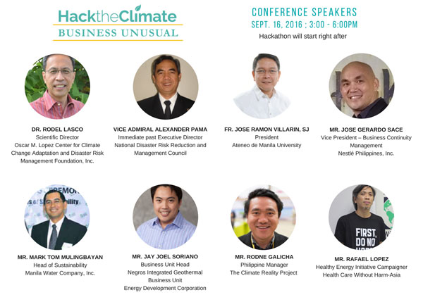 hack the climate speakers