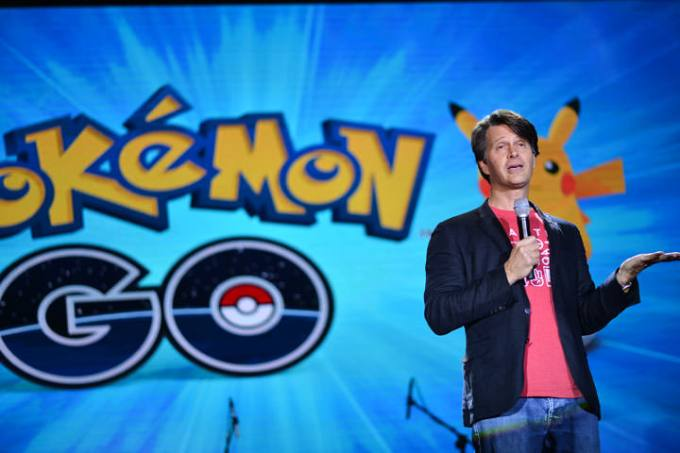Niantic Chief Executive Officer and founder John Hanke join Globe Telecom during the announcement of its exclusive partnership for Pokemon Go.