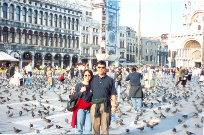 Nina Solomon brought her husband Florante to Milan when she qualified for the incentive trip.