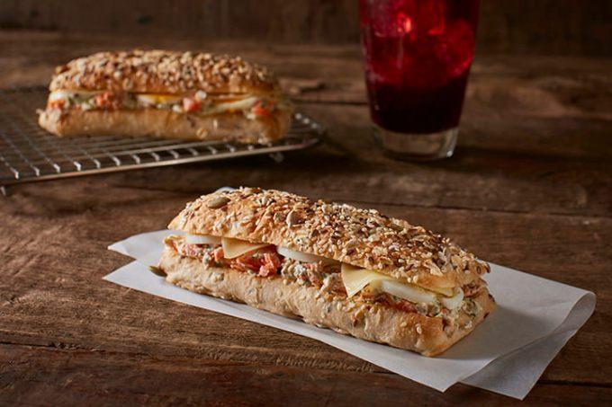 Salmon Dill on Multigrain Bread, Starbucks