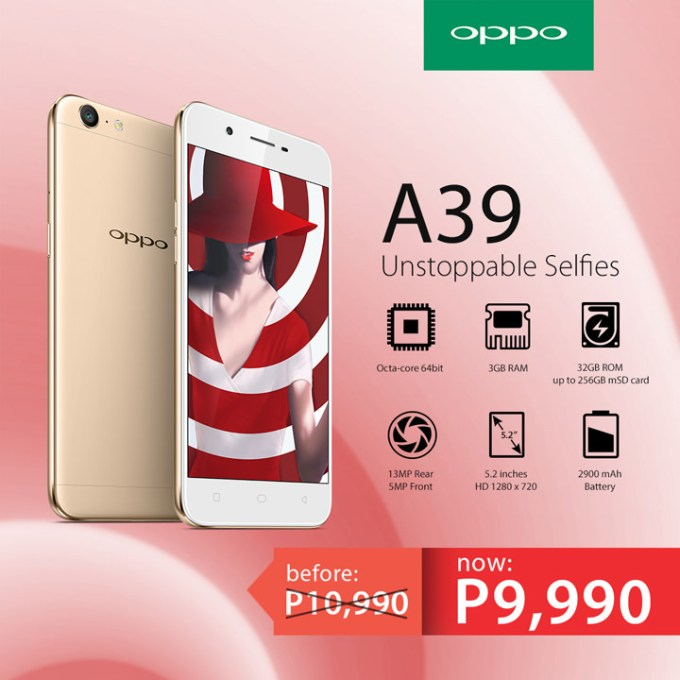 OPPO A39, OPPO A39 Price Drop
