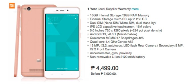 Lazada Big App Sale, Xiaomi Redmi 16GB
